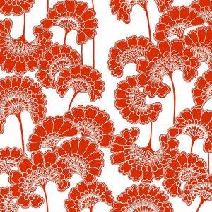 Florence Broadhurst Japanese Floral, Tomato