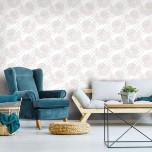 Large Floral Trellis, Sugar, Florence Broadhurst wallpaper