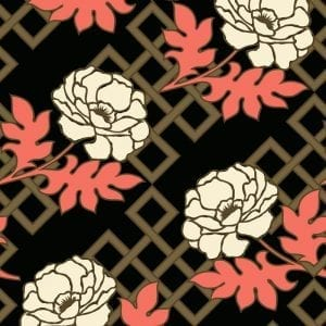 Florence Broadhurst Large Floral Trellis, Tea House