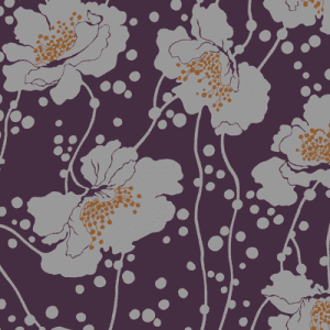 Florence Broadhurst Spotted Floral, Plum