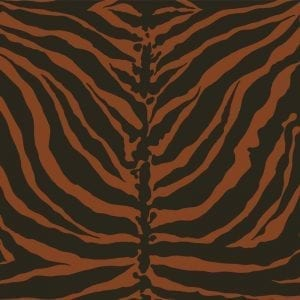 Florence Broadhurst Tiger Stripe Chocolate