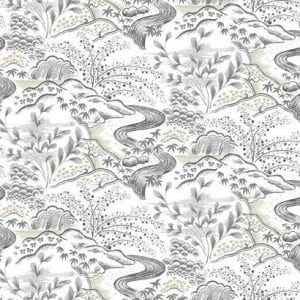 Florence Broadhurst wallpaper, Waterfall Gardens FB1436 - American Edit