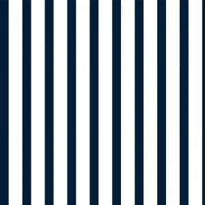 Double Quarter Stripe, Navy, Florence Broadhurst