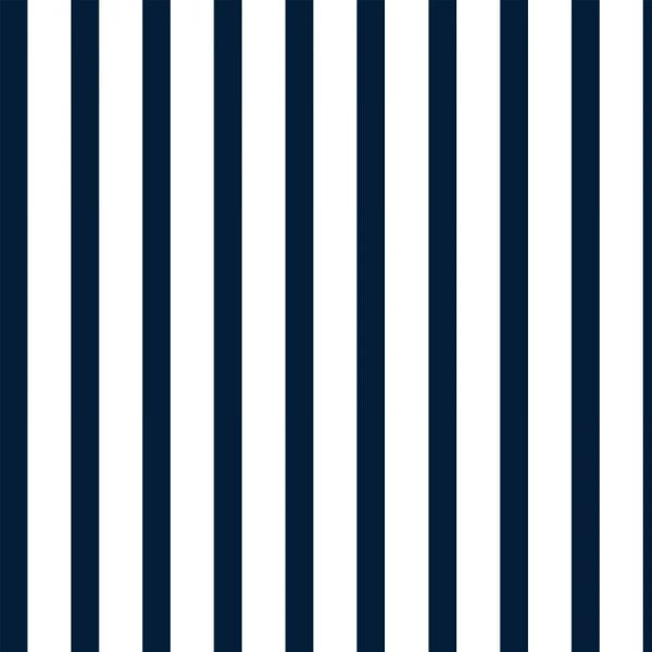 Double Quarter Stripe, Navy, Florence Broadhurst