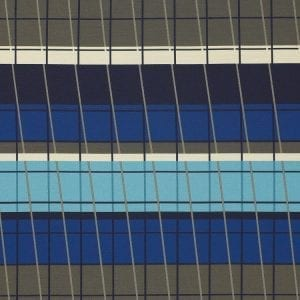 Lines On Stripes Deep Cobalt, UV resistant fabric