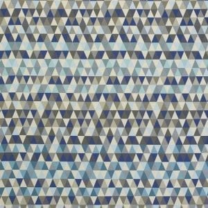 Triangles Cool Blue, outdoor textile