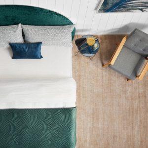 The Luxury Escape Collection velvet bed runner