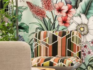 ANZ Sylvia Park, custom Typoflora wall covering