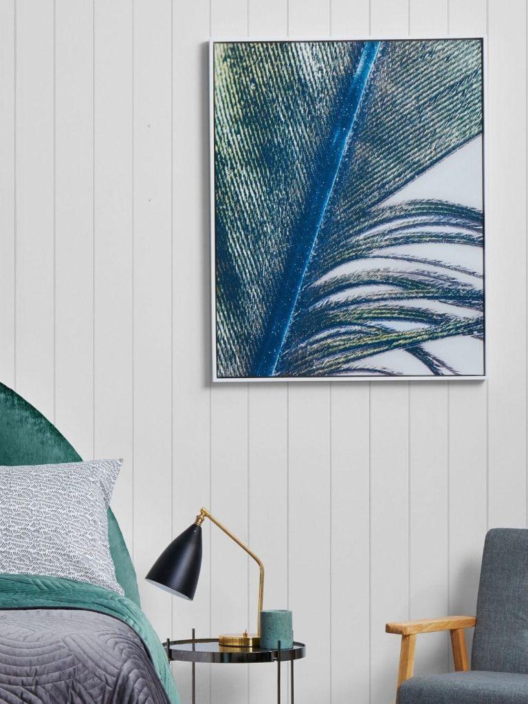 Acoustic art white frame