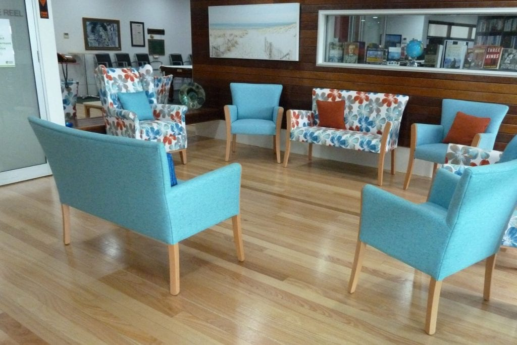 Wheller On The Park, aged care furnishing fabric, WeaveUp