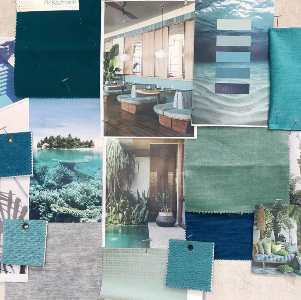 Blue moodboard Design Showcase inspo