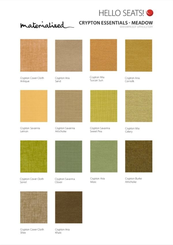 Crypton Essentials Swatch Card, Meadow