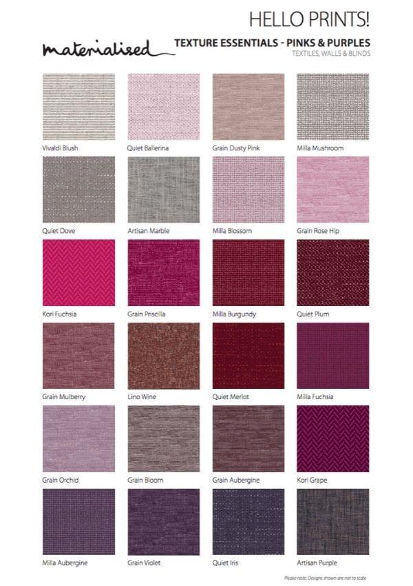 Texture Essentials Pinks Purples