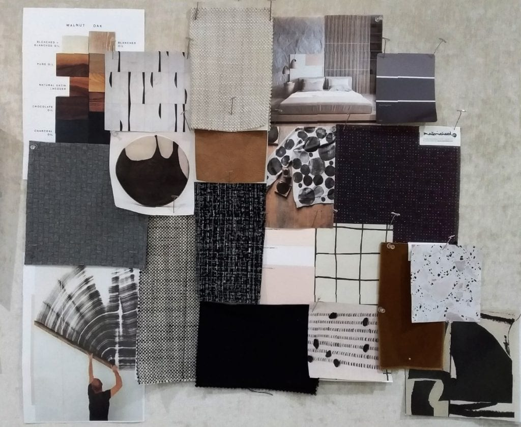 Modern Minimalist mood board, Materialised design team