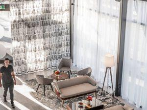 P/Kaufmann Polyphonic sheers, hotel design
