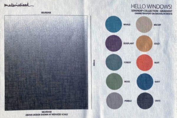 Serendip ombre Brooklyn White sample