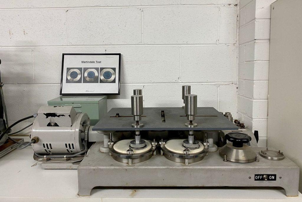 Martindale fabric abrasion testing Materialised