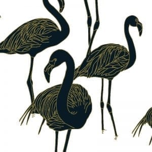 Deco Flamingo Gatsby Navy