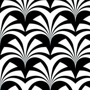 Miami Palms Noir, Deco Glamour, Grace Garrett
