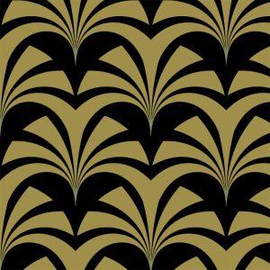 Miami Palms Gatsby Gold, Deco Glamour, Grace Garrett