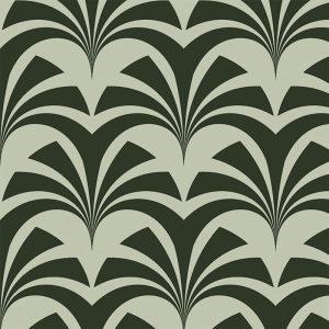 Miami Palms, Deco, Verde Green