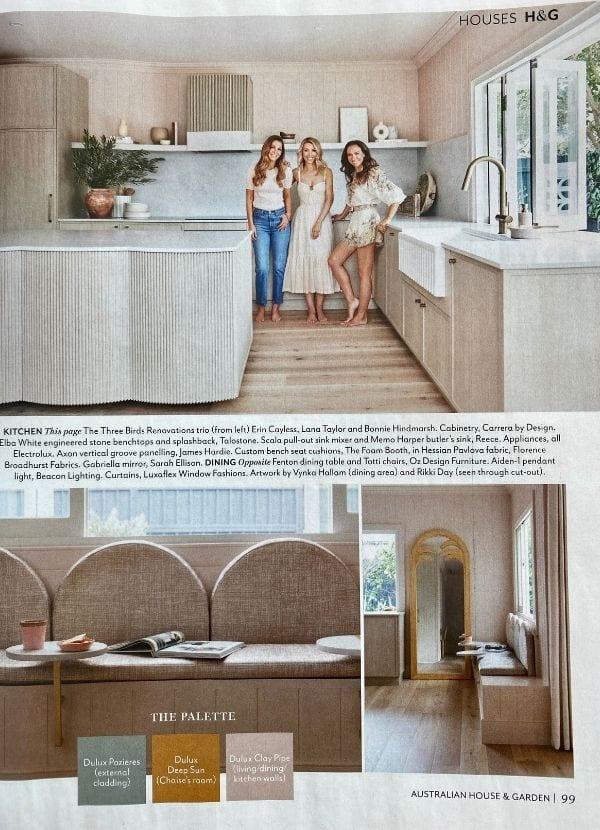 H&G Dec 2020 Florence Broadhurst Fabrics Hessian Pavlova fabric