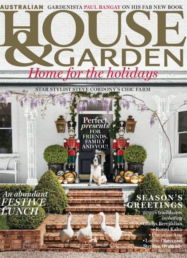 House & Garden Dec 2020 cover