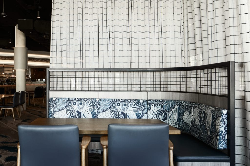 Jimmy Pike upholstery, Club Parramatta