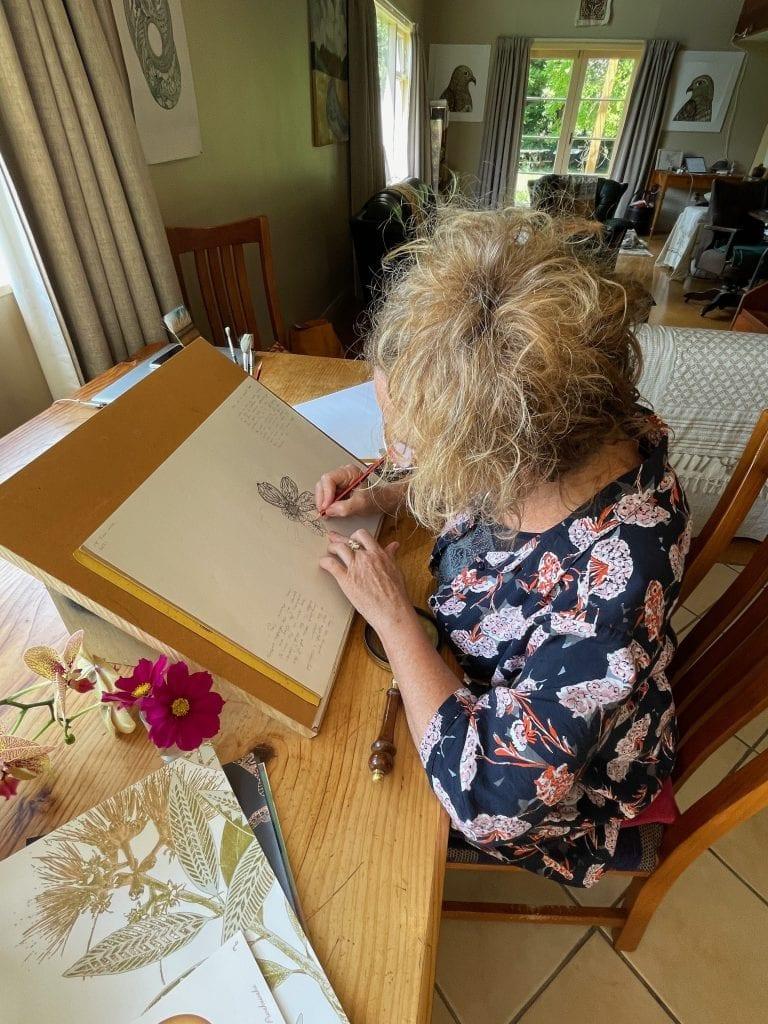 miranda brown in her studio