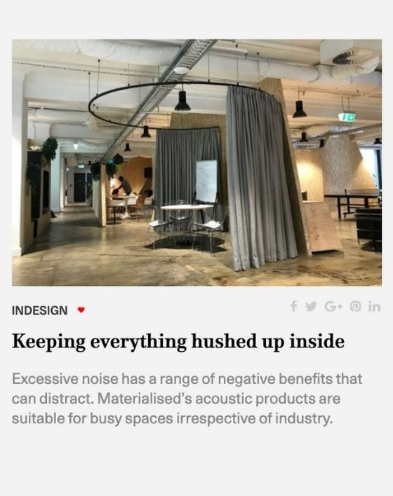 Indesignlive acoustic solutions