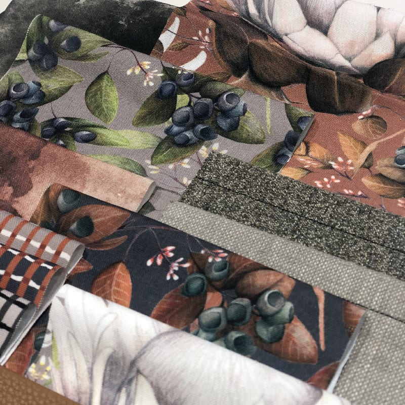 Kelly Kratzing textiles and wall covering by Materialised