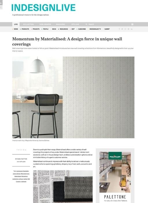 Indesignlive July feature